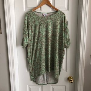 LuLaRoe Green and Red Floral Irma